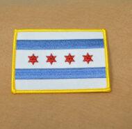 Chicago City Flag Patch