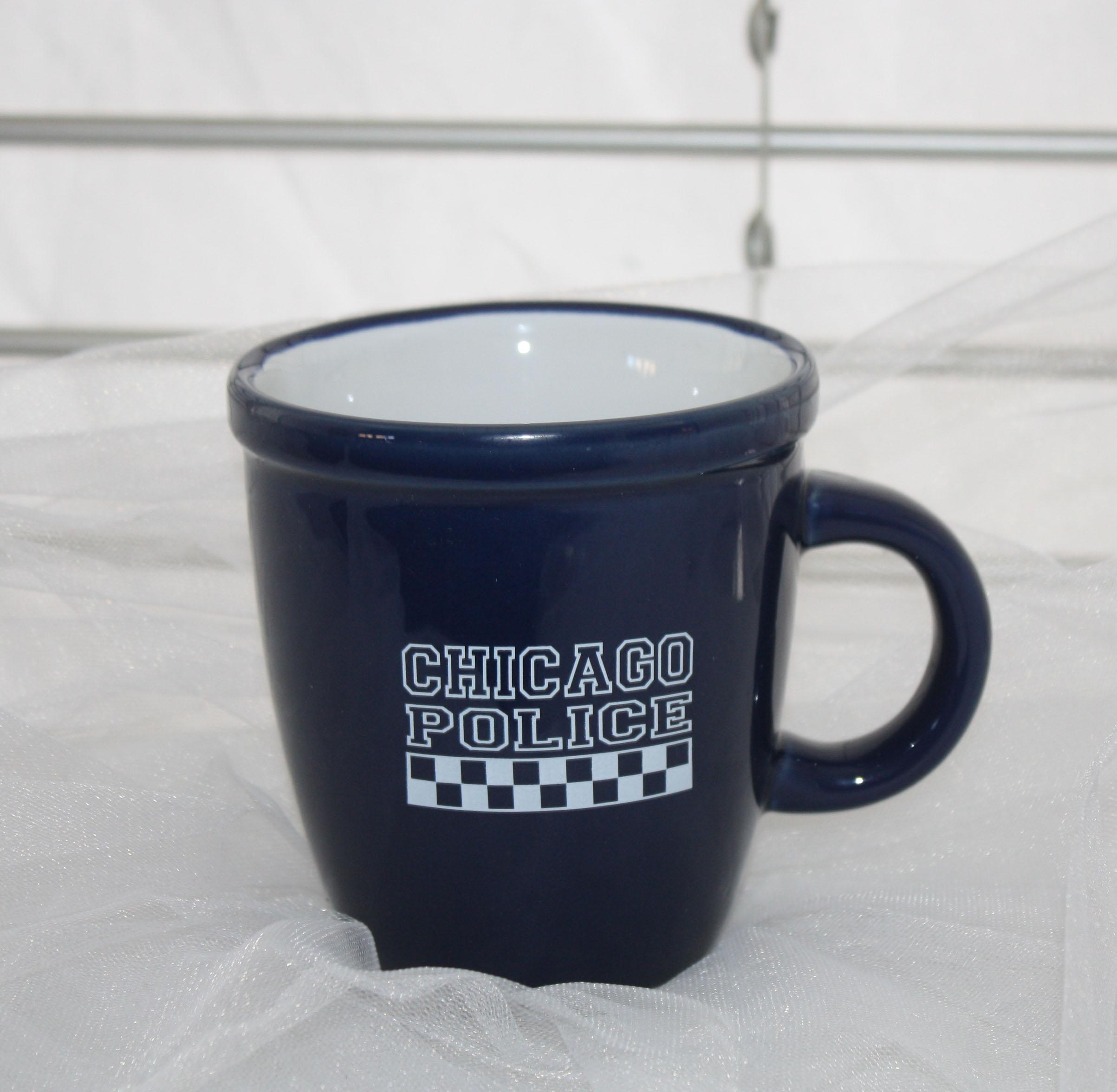 Navy Coffee Mug With Checkerboard Design Img 4264