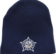 NAVY KNIT CAP WITH WHITE CPD STAR
