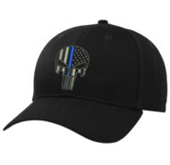 BLACK-BALL-CAP-WITH-BLUE-LINE-SKULL