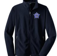NAVY BLUE FULL ZIP FLEECE WITH CPD STAR
