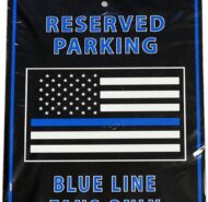 BLUE LINE FLAG SIGN