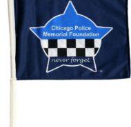 CPD MEMORIAL CAR FLAG