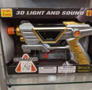 LIGHT UP TOY SPACE GUN