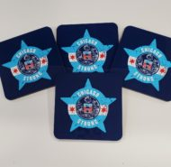 4 PACK CHICAGO STRONG COASTER SET
