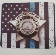 BLUE LINE FLAG CPD MOUSE PAD