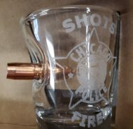 BULLET SHOTS FIRED SHOT GLASS