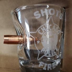 BULLET SHOTS FIRED SHOT GLASS