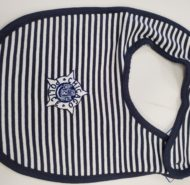 NAVY WHITE BIB