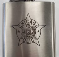 ENGRAVED CPD STAR FLASK