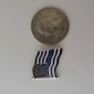 THIN BLUE LINE AMERICAN FLAG PIN 2