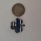 THIN BLUE LINE SHAMROCK PIN 2